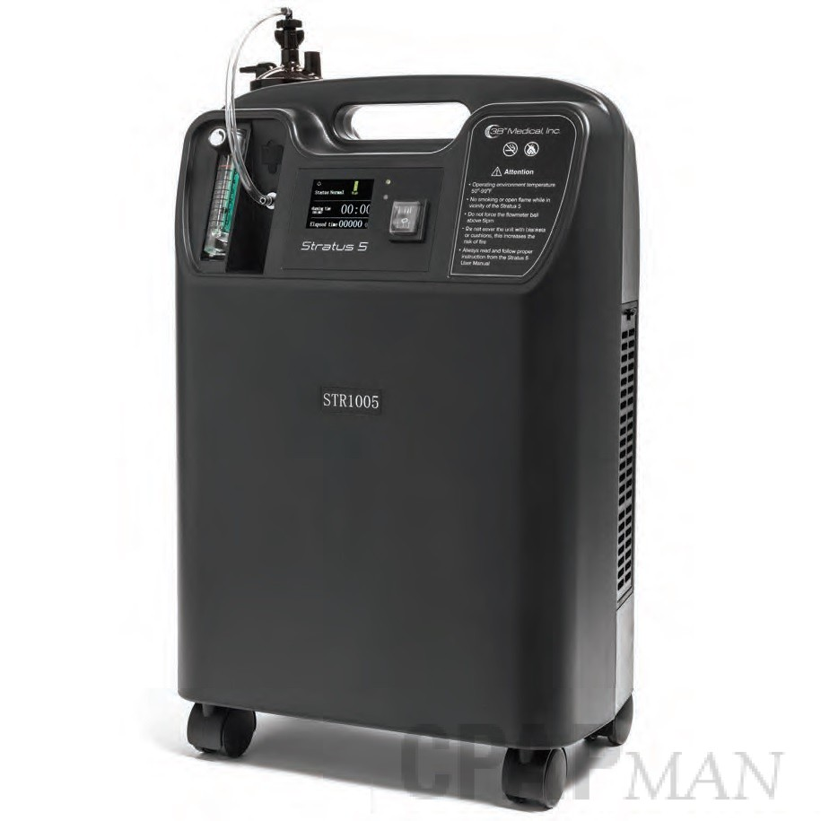 Stratus 5 Oxygen Concentrator by 3B Medical - 5 LPM, Continuous Flow