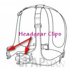 Headgear Clips, Mirage Vista Nasal Mask