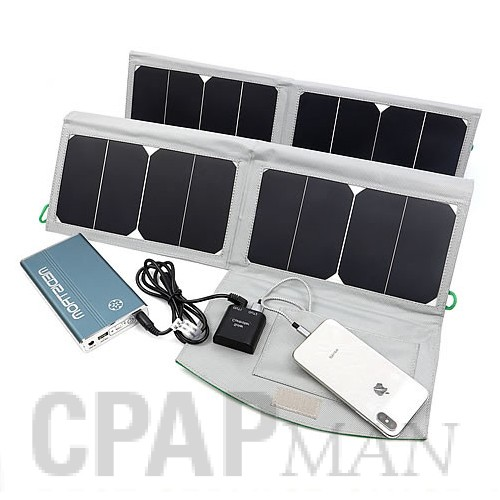 Medistrom 50W Solar Panel Charger for Pilot 12/24 CPAP Batteries