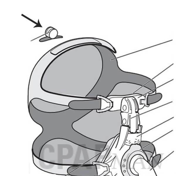 EasyFit SilkGel Overhead CPAP Tube  Anchoring Strap