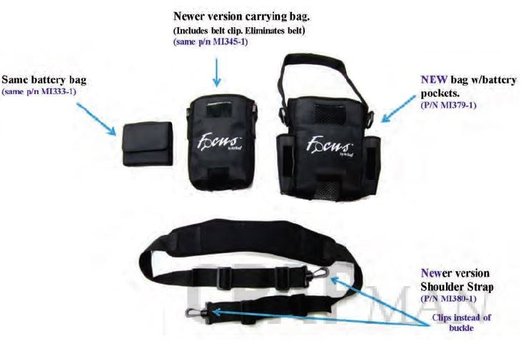 AirSep Focus Portable Oxygen Concentrator Bag Set