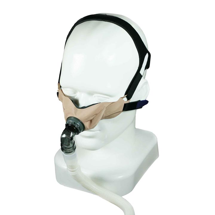 SleepWeaver elan™ Soft Cloth Nasal CPAP Mask with Headgear from Circadiance
