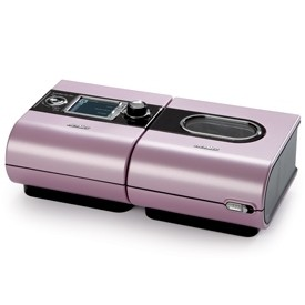 Pink S9 AutoSet™ for Her, with H5i Heated Humidifier and SlimeLine Tubing from ResMed
