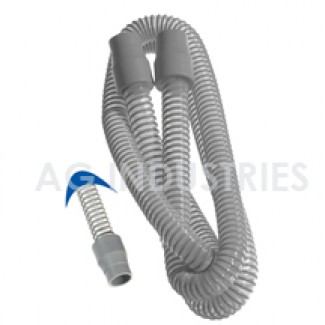 4 ft Tubing, Grey, Medical Grade with Silicone Cuffs, 22 mm
