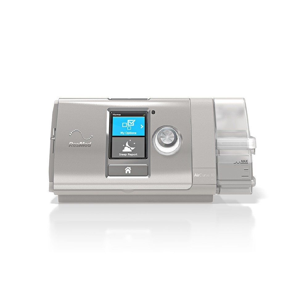 AirCurve 10 VPAP ST with HumidAir Humidifier and ClimateLineAir Heated Tube from ResMed