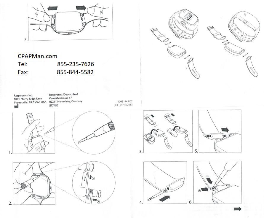 Philips Respironics Actiwatch 2 Watchband Kit